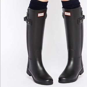 Hunter Original Refined Rain Boots Matte Black